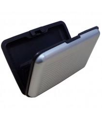 Aluminium Credit Card Holder/Wallet - Silver
