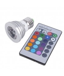 4 Watt E27 RBG LED Light with remote controller