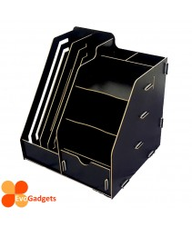 Office DIY Table Top Organiser / Multipurpose Desk Organizer / Documents Organiser  / Rack - Black