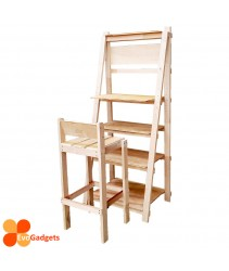 COMBO DEAL - Hademade Solid Wood Ladder Desk  with Chair