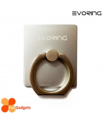EVORing with Hook- Universal Masstige Ring Grip / Phone Stand / Phone Holder - Silver