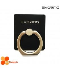 EVORing with Hook- Universal Masstige Ring Grip / Phone Stand / Phone Holder - Black