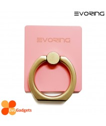 EVORing with Hook - Universal Masstige Ring Grip / Phone Stand /Phone Holder - Pink