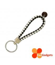 Premium PU Leather Woven Rope Keychain
