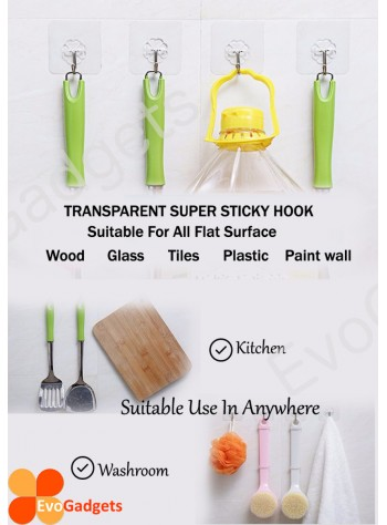 Heavy Duty Magic Hook / Super Sticky Magic Hook / Strong Adhesive Magic Hook x 10units