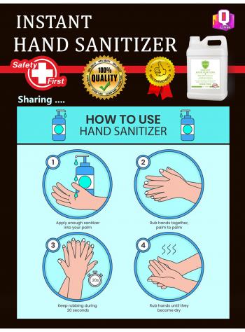 75% Alcohol Instant Hand Sanitizer (4Litres / 4L)