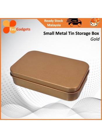 Metal Tin Storage Box / Rectangular Small Container / Multipurpose Storage Tin Box
